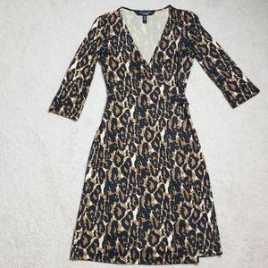 Diane Von Furstenberg animal print silk wrap dress